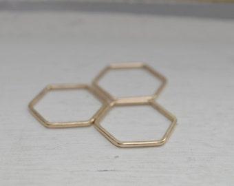 Hexagon Stacking Ring