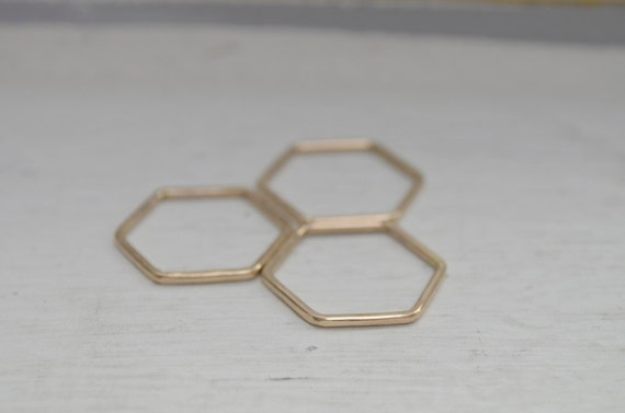 Hexagon Stacking Ring