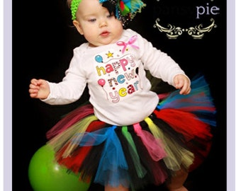 Baby New Years Outfit Baby Girl New Year Outfit Happy New Year Outfit 9 12 18 Months
