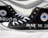 Groom Hand Painted Shoes