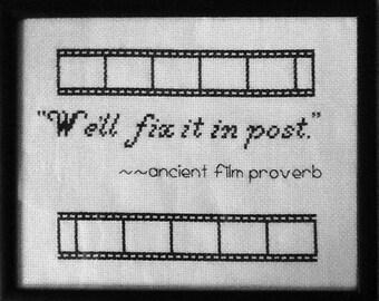 Custom Quote Cross Stitch Sampler