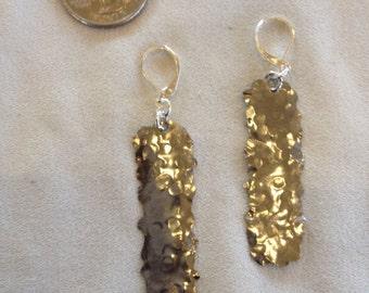 Medium linear funky stainless steel earrings