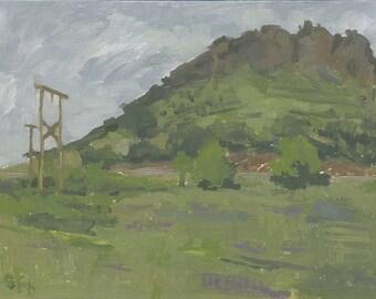 Pompadour Bluff, Ashland, OR: Original Framed Oil Painting Plein Air Landscape