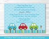 Cute Car Baby Shower Invi...