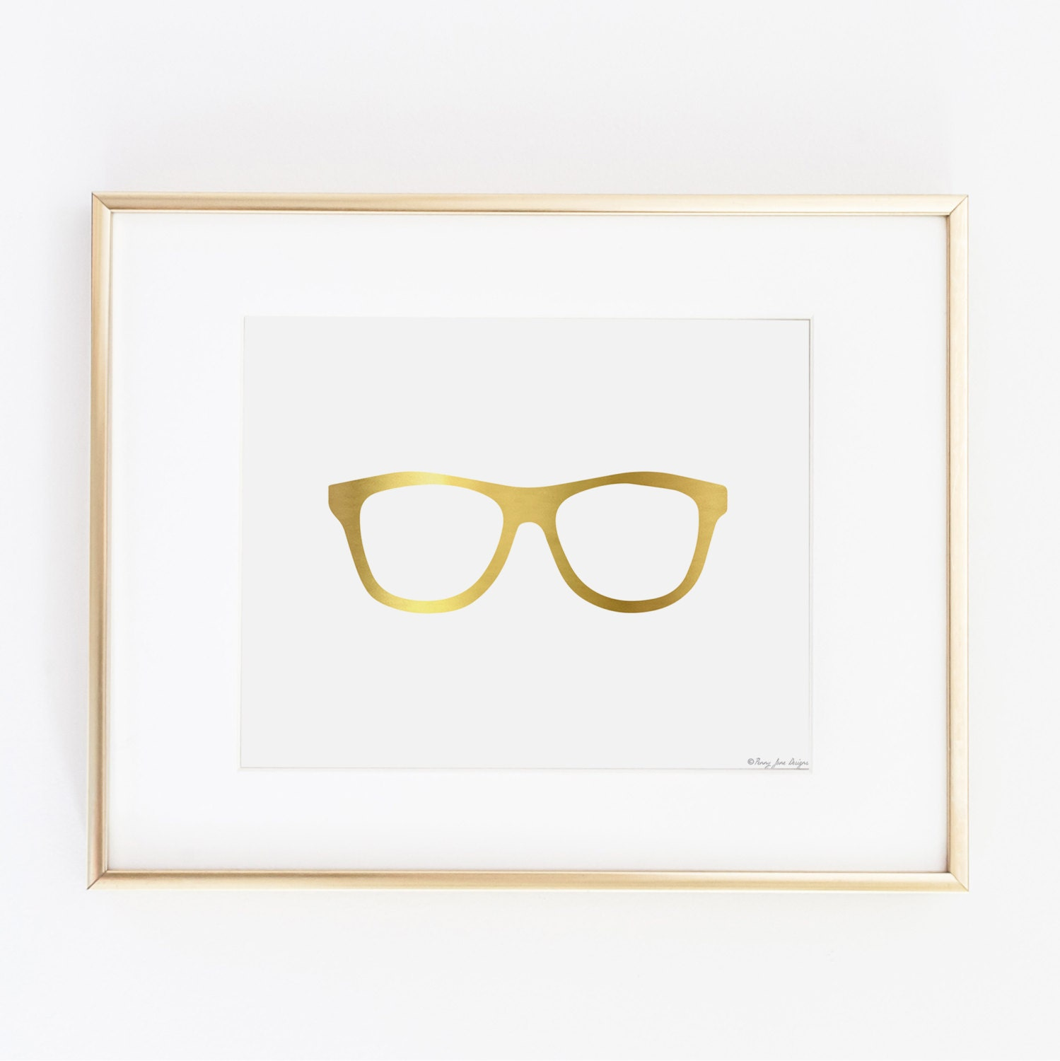 Gold Nerd Glasses Printable Art Gold Digital by ...