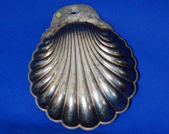 William Rogers Large Clam Shell Silverplate Hollowware Dip Tray