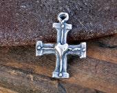 Cross Charm Templar/Masonic Sterling Silver