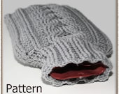 Cabled Hot Water Bottle Cozy - Crochet Pattern (PDF) - INSTANT DOWNLOAD