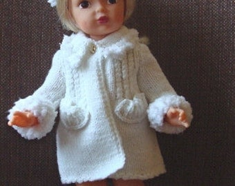 Knit coat and hat for Terri Lee dolls