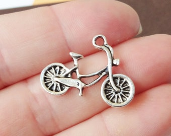 10 Bicycle Charms 25x18x2mm ITEM:W2
