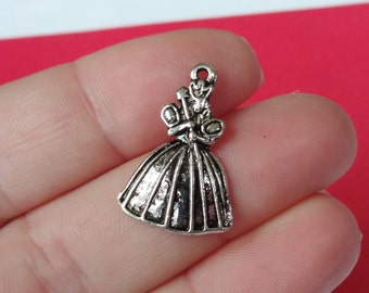 10 Princess Charms 16x23x2mm, Hole: Approx. 1mm