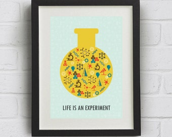 "Science Print ""Science. Its a theory"" Downloadable mid century, pop art print"