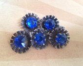 1950's Blue and Silver Flower Cufflinks
