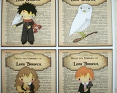 Harry Potter - Personalized Bookplates - Stocking Stuffers, birthday or Shower Gift - Set of 16 - Sticker Paper - HPBP 23098