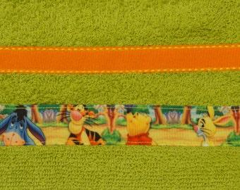 Green  Winnie The Poo  Hooded Towel