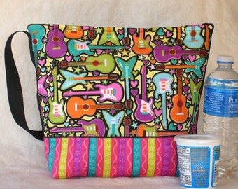 Insulated Lunch Bag in School of Rock Guitars