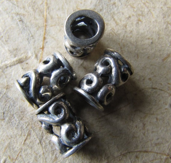 Sterling silver tube bead mm large hole britz beads supply