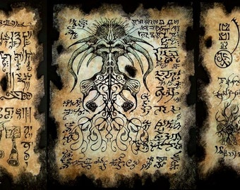 cthulhu larp SHUB NIGGURATH RITUALS Necronomicon demon occult dark art magick