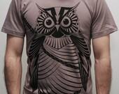 Samurai Owl -  Mens t shirt, father's day gift, owl t shirt, men shirt, graphic tee
