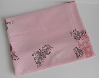 Vintage Pink California Hand Prints Table Cloth
