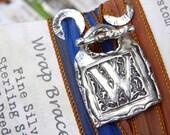 Personalized Jewelry, Personalized Bracelet, Monogram Jewelry, Monogram Bracelet, Personalized Initial Letter Silk Wrap Bracelet