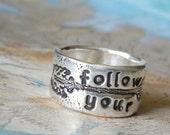 Boho Jewelry, Boho Silver Ring, Follow Your Arrow Jewelry, Bohemian Style Jewelry, Boho Ring, Bohemian Ring, Bohemian Jewelry, Arrow Ring