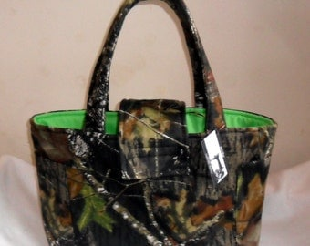 Large Mossy Oak Breakup Camouflage Diaper Bag Tote CHOICE OF INTERIOR