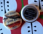 "twin peaks- the double r 1"" button set"