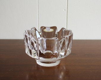 Vintage crystal dish or ashtray, Sweden