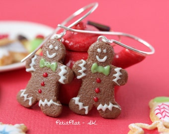 Gingerbread Men Earrings - Christmas Cookies - Christmas Collection