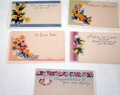 Vintage gift cards Birthday Love New Baby Thank You