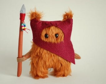 Star Wars Ewok Fur .12cm. Dark Red.