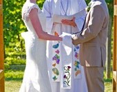 Celtic Bridal Handfasting Cloth - Thistles in Silk