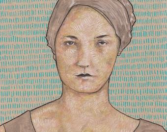 portrait giclée print 8x10