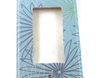 Rocker Light Switch Cover Wall Decor Switch Plate  Switchplate  in  Blue Bliss (294R)