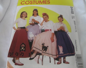 Uncut 1996 McCalls 50s Poodle Skirt Costume Craft Sewing Pattern