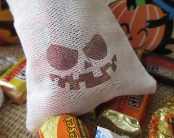 Halloween  Jack O' Lantern Favor Bags 3x5 - Set of 10 - Item 1600