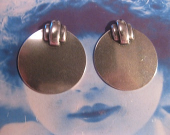 Art Deco Sterling Silver Ox Plated Brass Stampings 79SOX  x2