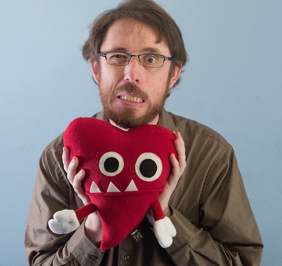 Large Plush Valentine's Grrr Heart