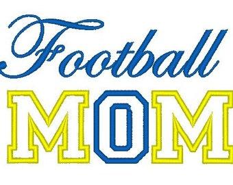 Football Mom Appliqué Machine Embroidery Design