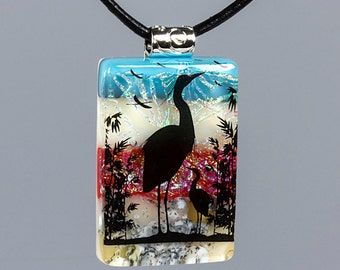 Fused Glass Pendant by BluDragonfly SRA - Paradise