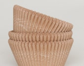 100 Pc Pretty Unbleached Natural Kraft Cupcake Liners 2X1.25 Inch Size Perfect for Parties