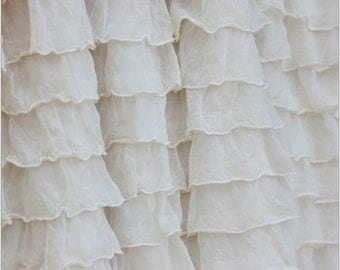 Ivory Crib Skirt - Cream Bedskirt - Girl Nursery Bedding - Crib Skirt Girl - Long Crib Skirt- Ivory Ruffle Crib Skirt- White Crib Skirt