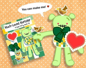 PDF Much Loved Monster Jointed Paper Doll - Zombie