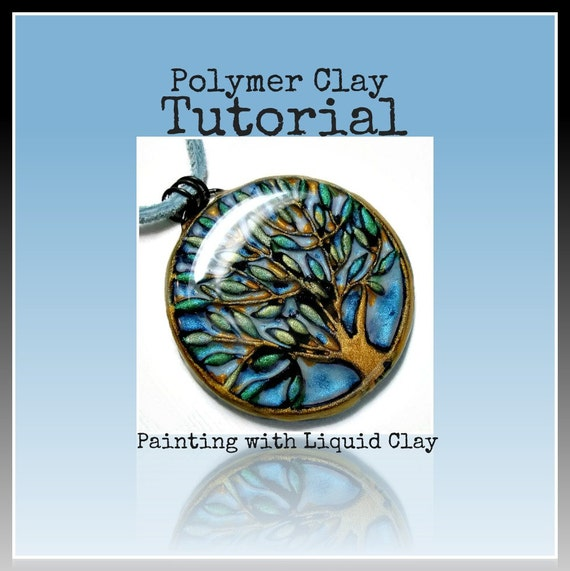 Items similar to polymer clay tutorial painting with for Clay mural tutorial