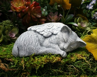 MANX CAT Statue - Angel Cat With Bob Tail, No Tail, Tailess Cat Pet Memorial