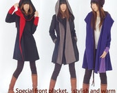 Far Away from Home - cashmere hood coat (Y1121)