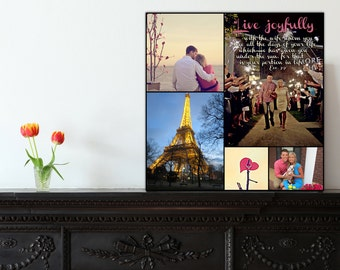 Personalized Pictures Gift Photo Collage Canvas Words Text Quote Sayings 20X24