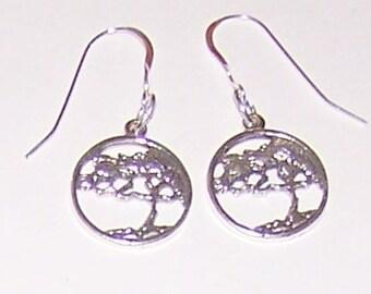 Sterling Silver CYPRESS TREE Earrings - Celtic
