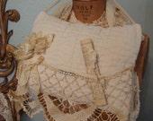 Shabby Cottage Chic Pillow Door Hanger Vintage